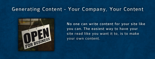Generating Content Yourcompany 8 15 11