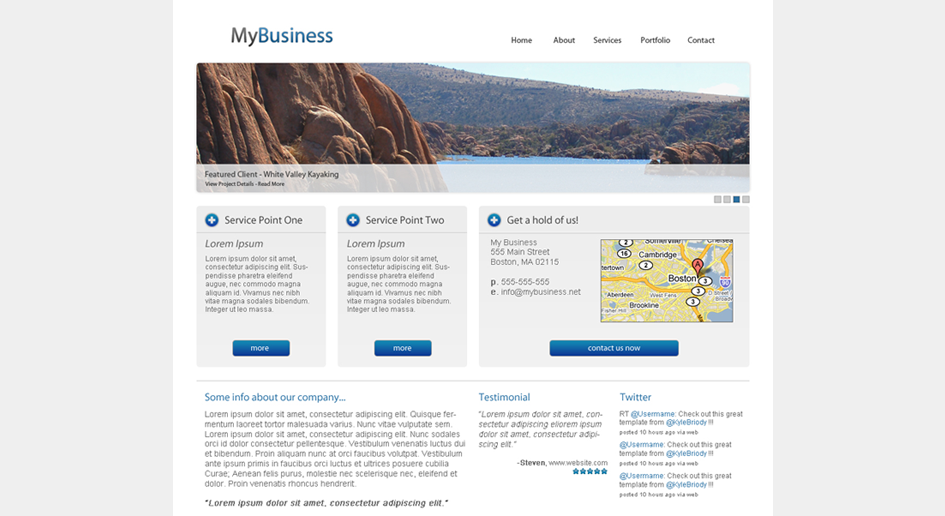 Mybusiness Template Portfolio Full