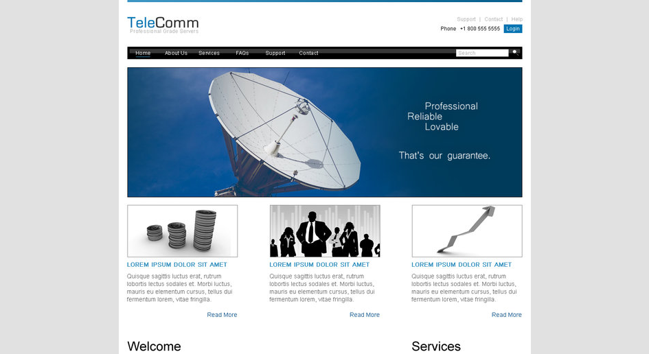 Telecomm Template Portfolio Full